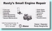 WRusty's Small ENgiine Repair