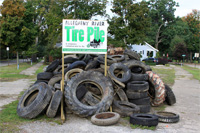 Allegheny River Tire Pile!
